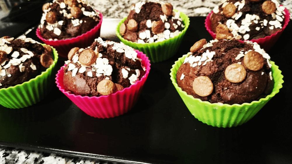Magdalenas de Avena y Chocolate sin azúcar