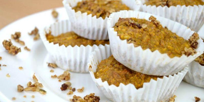 Muffins de zanahoria y plátano
