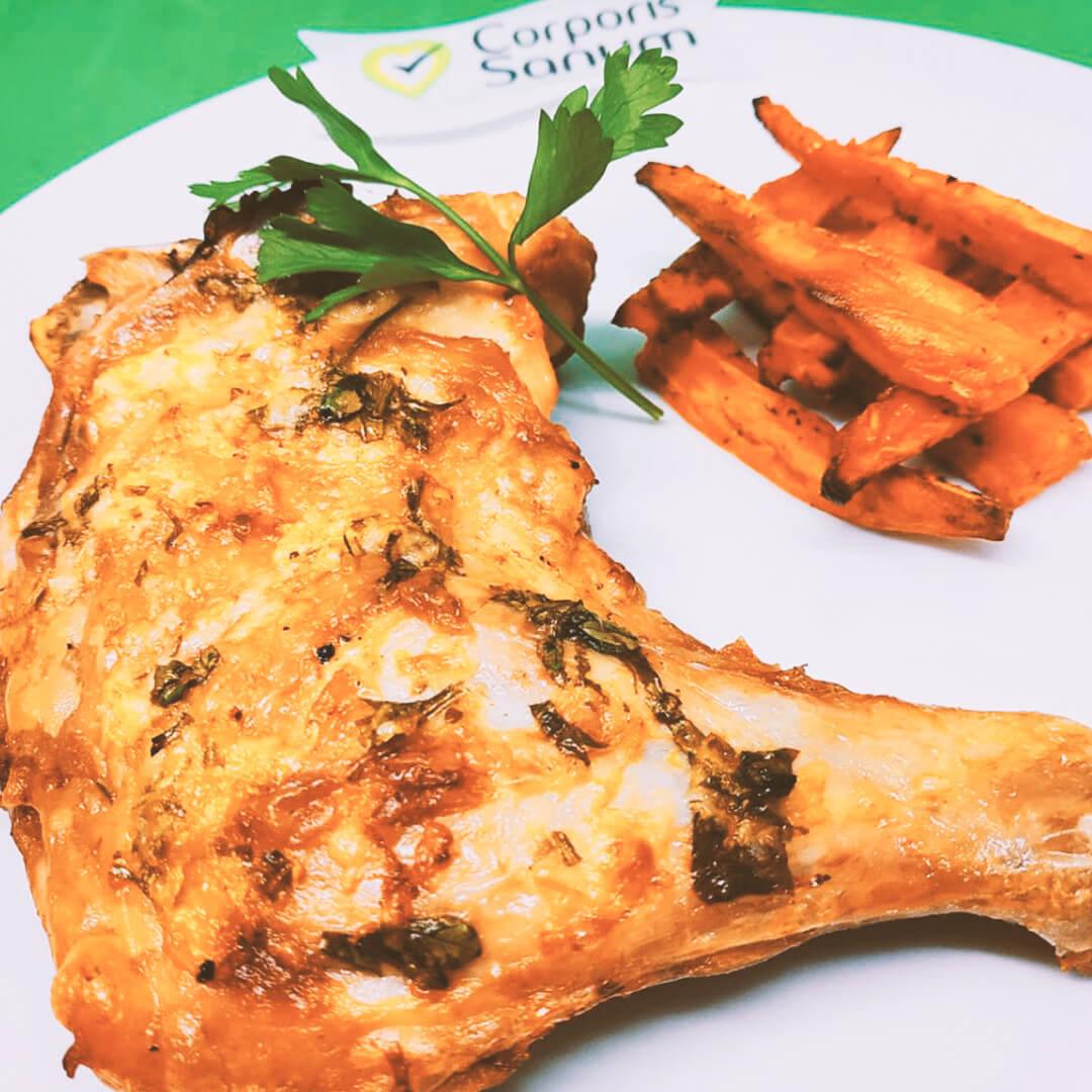 Muslo de Pollo con Perejil y Queso Parmesano