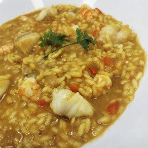 arroz meloso con rape